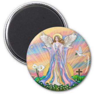 Bendición del ángel imán de frigorifico