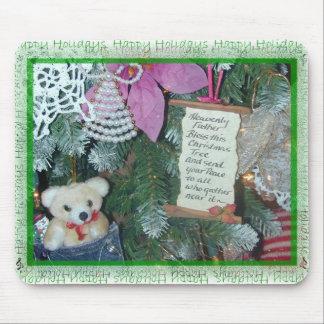 Bendición del árbol de navidad del cojín de ratón tapete de ratones