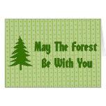 Bendición del bosque felicitacion