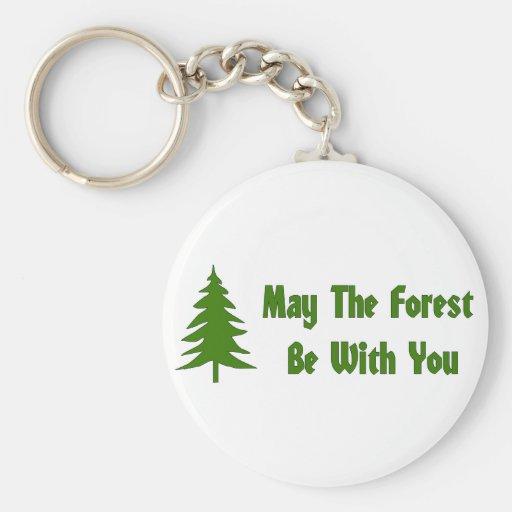 Bendición del bosque llaveros personalizados