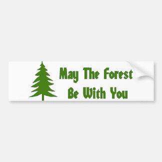 Bendición del bosque pegatina para auto