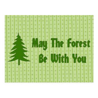 Bendición del bosque postal