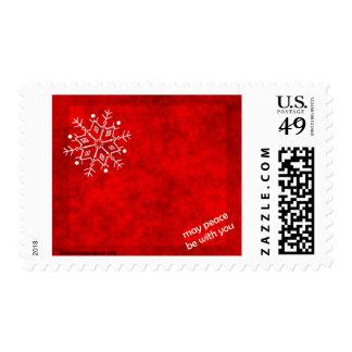 Bendición del copo de nieve timbres postales