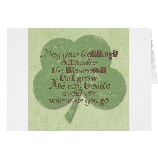 Bendición del día del St. Patricks Tarjeta De Felicitación