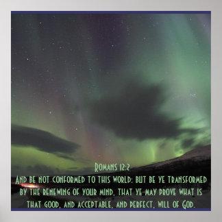 Bendición del Inspirado-Biblia-Verso del 12:2 de l Posters