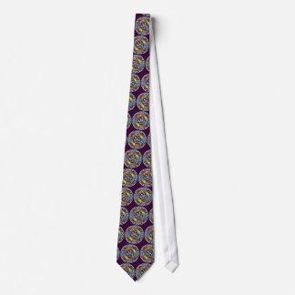 Bendición del lazo púrpura de los elementos corbata