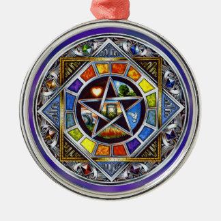Bendición del ornamento redondo superior de los adorno navideño redondo de metal