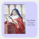 Bendición del santo Brigid Pegatinas Cuadradas