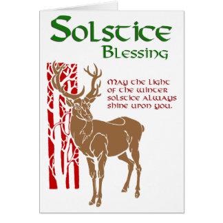 Bendición del solsticio de invierno tarjeta de felicitación