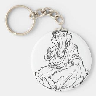 Bendición Ganesha - versión de b w Llavero Personalizado
