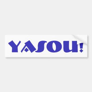 Bendición griega de Yasou Pegatina Para Auto