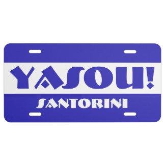 Bendición griega de Yasou Placa De Matrícula