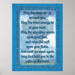 Bendición irlandesa azul póster