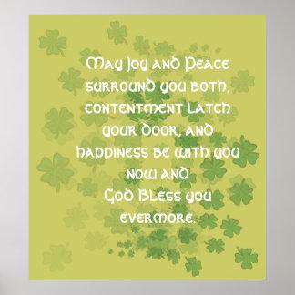 Bendición irlandesa de la boda poster
