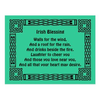 bendición irlandesa de la buena suerte postales
