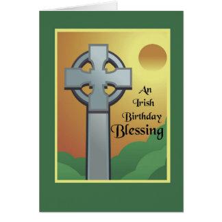 Bendición irlandesa del cumpleaños tarjeta de felicitación