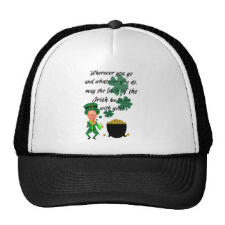 Bendición irlandesa del Leprechaun divertido del d Gorros