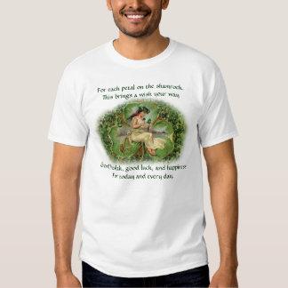 Bendición irlandesa del trébol - camiseta 3 playera