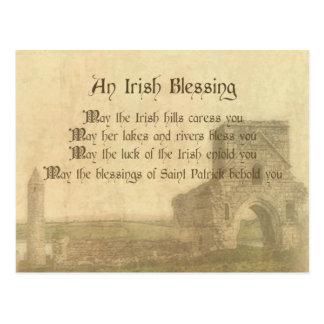 Bendición irlandesa del vintage postales