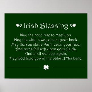Bendición irlandesa impresiones