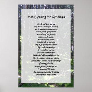Bendición irlandesa para los bodas póster