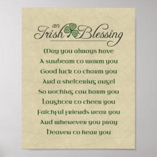 Bendición irlandesa póster
