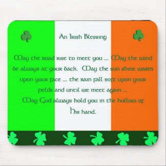 Bendición irlandesa tapetes de raton