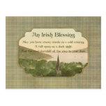 Bendición irlandesa tradicional tarjeta postal