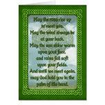 Bendición irlandesa verde felicitaciones