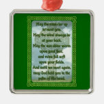 Bendición irlandesa verde ornamentos de navidad
