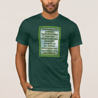 Bendición irlandesa verde playera