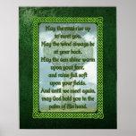 Bendición irlandesa verde posters