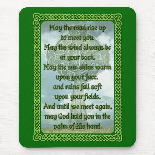 Bendición irlandesa verde tapete de ratón