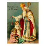 Bendición-St del navidad. Nikolaas Postal