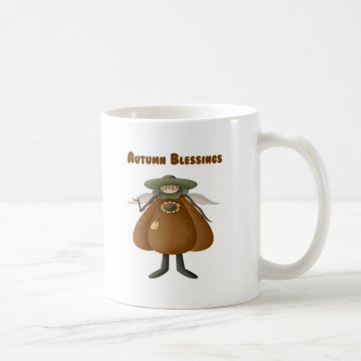 Bendiciones 2 del otoño tazas de café
