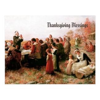 Bendiciones de la acción de gracias. Postales