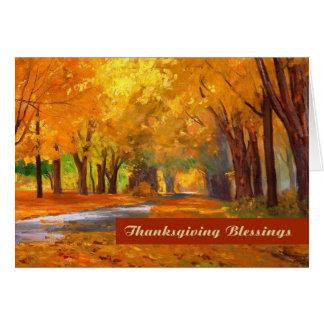 Bendiciones de la acción de gracias. Tarjeta de fe