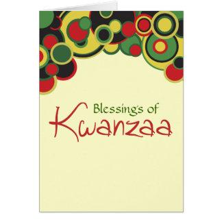 Bendiciones de la tarjeta de Kwanzaa