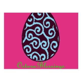 Bendiciones de Ostara Pascua Tarjetas Postales