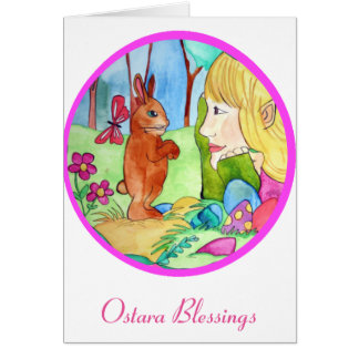 Bendiciones de Ostara - tarjeta de felicitación