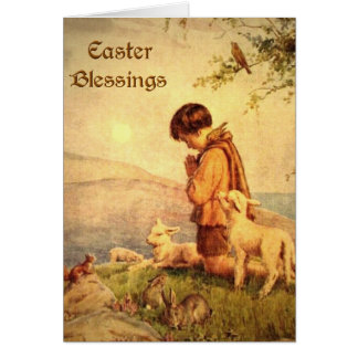 Bendiciones de Pascua Tarjeta De Felicitación