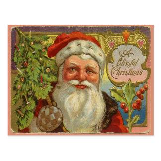 Bendiciones de Santa del vintage Postales