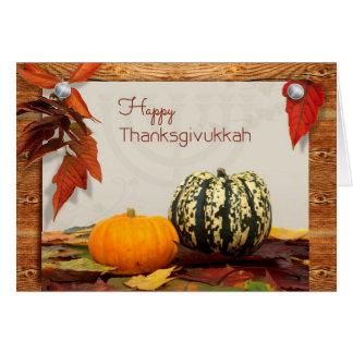 Bendiciones de Thanksgivukkah con la tarjeta de la