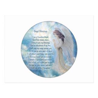 Bendiciones del ángel de guarda tarjeta postal