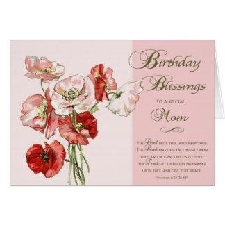 Bendiciones del cumpleaños a una mamá especial tarjeta de felicitación