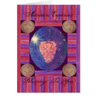 Bendiciones del equinoccio del otoño tarjeta de felicitación