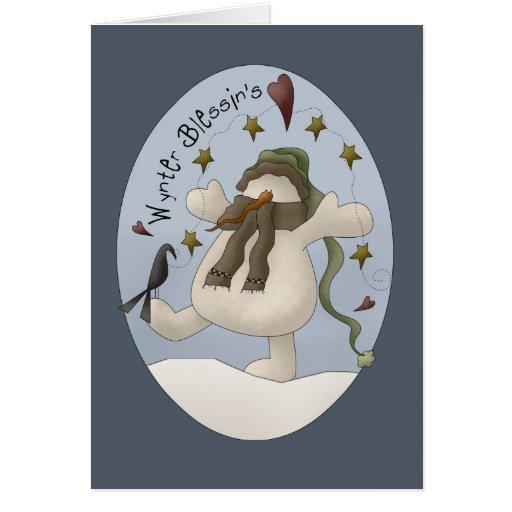 Bendiciones del invierno tarjeta de felicitación