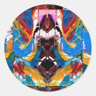 Bendiciones del mundo de los espíritus - pegatina redonda