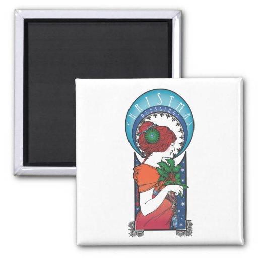 Bendiciones del navidad iman para frigorífico