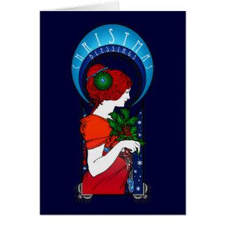 Bendiciones del navidad tarjeta de felicitación
